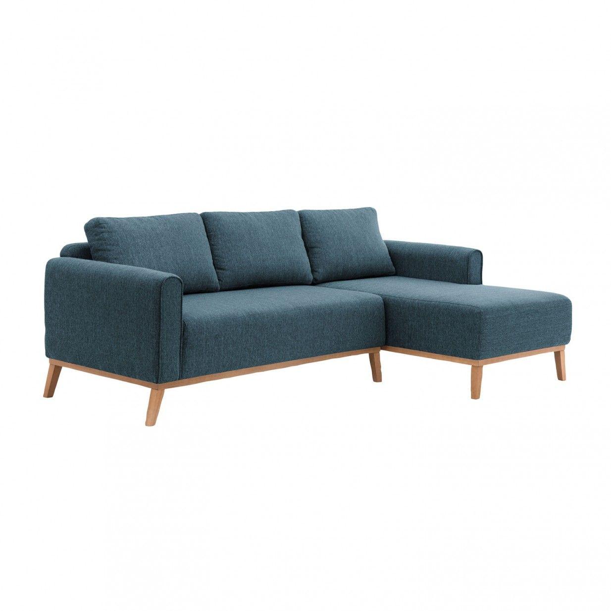 Milton Ecksofa Rechts Blau Vivonita Sofa Blue Sofa Corner Sofa