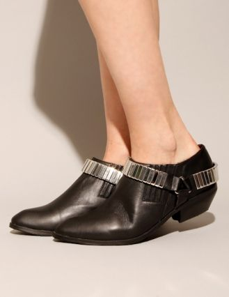 Metal harness pointed booties, JEFFREY CAMPBELL, $219 @ Pixie Market