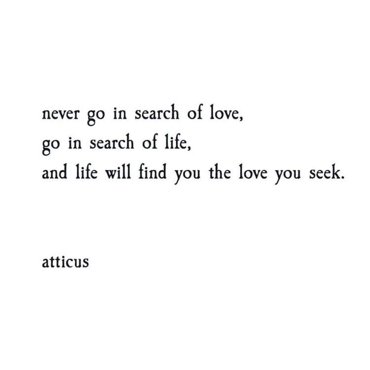 Love Finding Quotes About Never: Never Go In Search Of Love. Go In Search Of Life. And Life