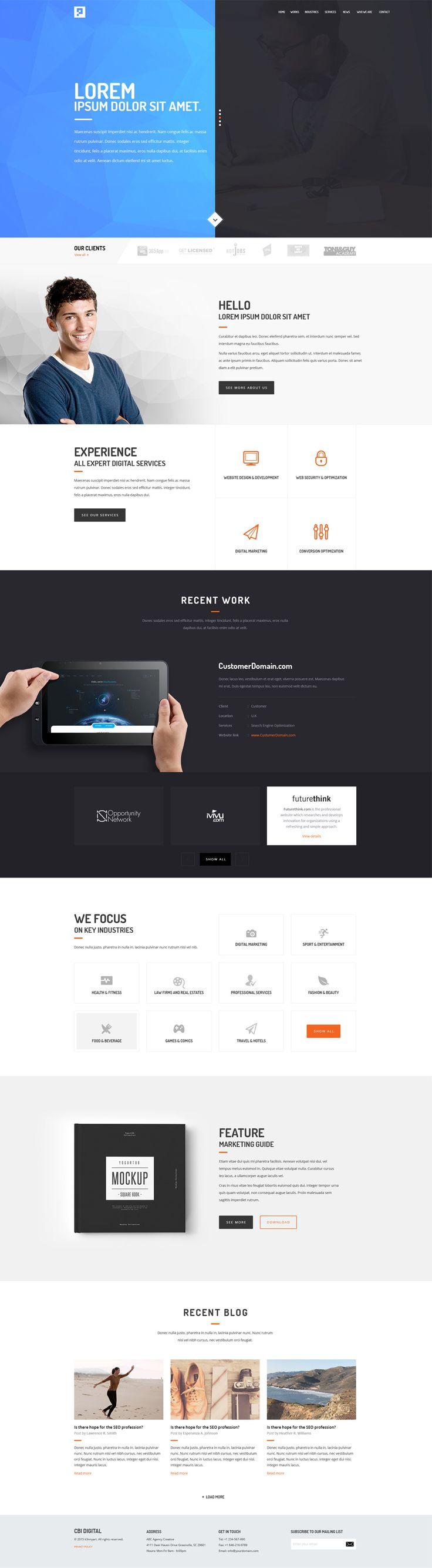 Free Agency Website Templates PSD » CSS Author | Templates | Pinterest