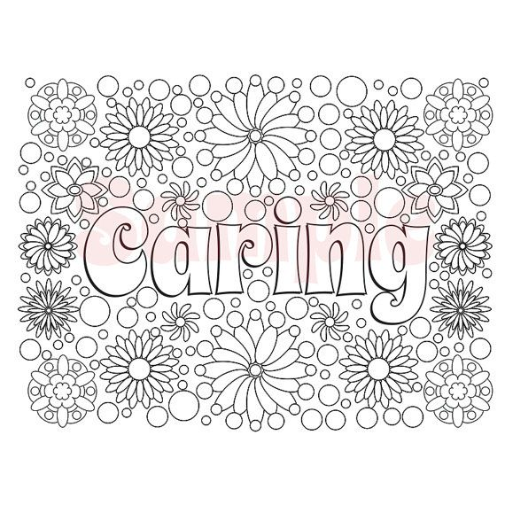 Word File W Caring Adult Coloring Page Coloring Pages
