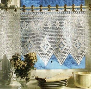 rideaux curtains pinterest crochet filet crochet and crochet curtains. Black Bedroom Furniture Sets. Home Design Ideas