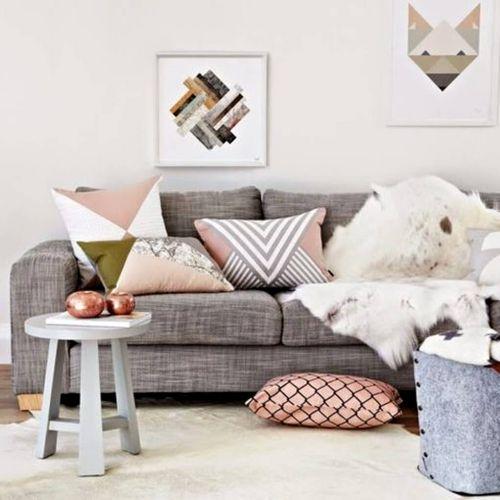 salon rose gris cuivre couleurs star de la saison salon. Black Bedroom Furniture Sets. Home Design Ideas