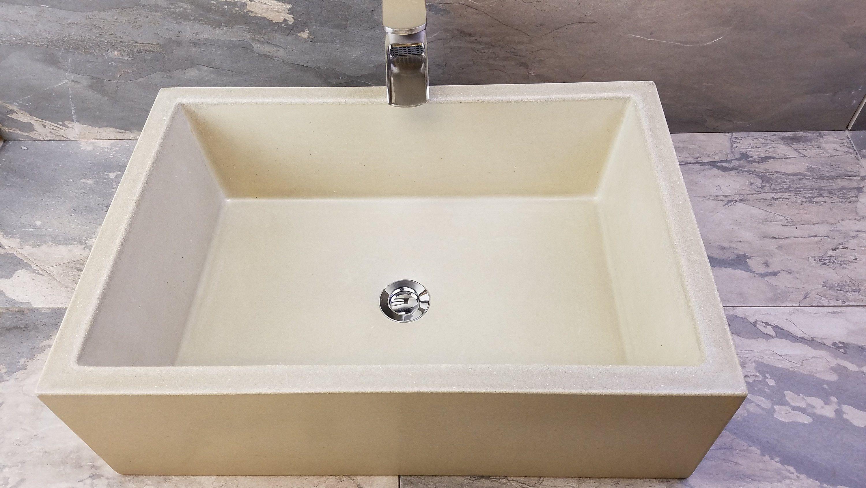 22 Rectangle Concrete Sink Rectangle Sink Rectangle Vessel Sink