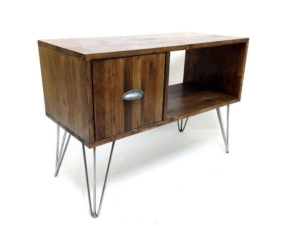 Awesome Vinyl Record Storage Console Table Mid By VintageHouseCoruna