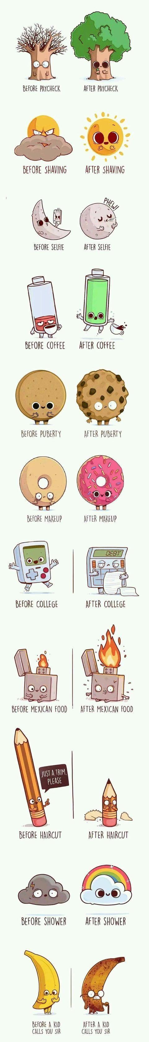 Vor und nach 😂😂 – Humor –  Vor und nach 😂😂 – Humor The Effective P…