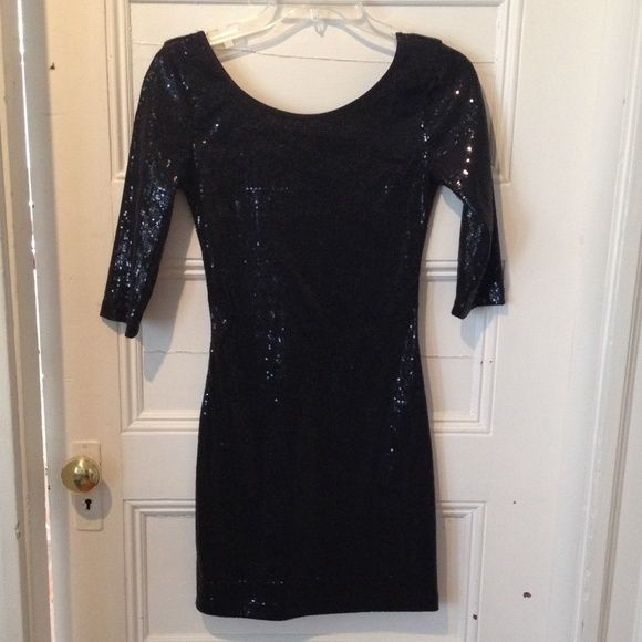 Selling this Black sequin dress in my Poshmark closet! My username is: nicmarie715. #shopmycloset #poshmark #fashion #shopping #style #forsale #voxx #Dresses