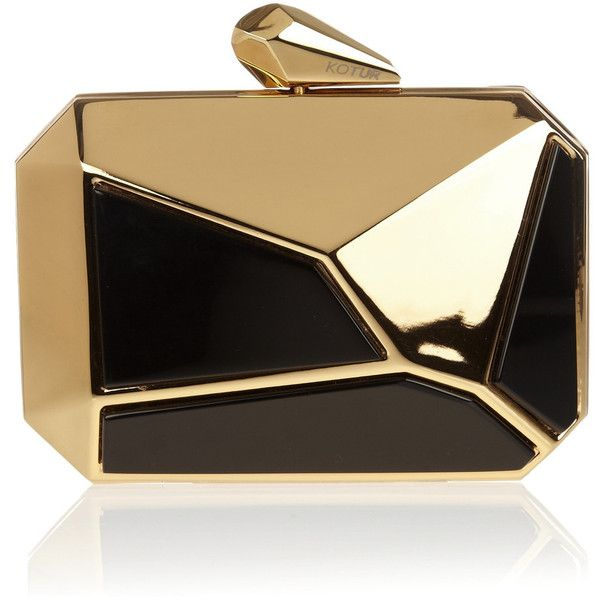 Kotur Pearce metal and Perspex octagonal clutch ($650) ❤ liked on Polyvore