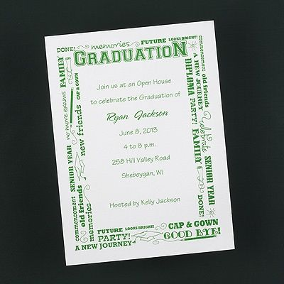 design your own graduation invitation white vertical you re