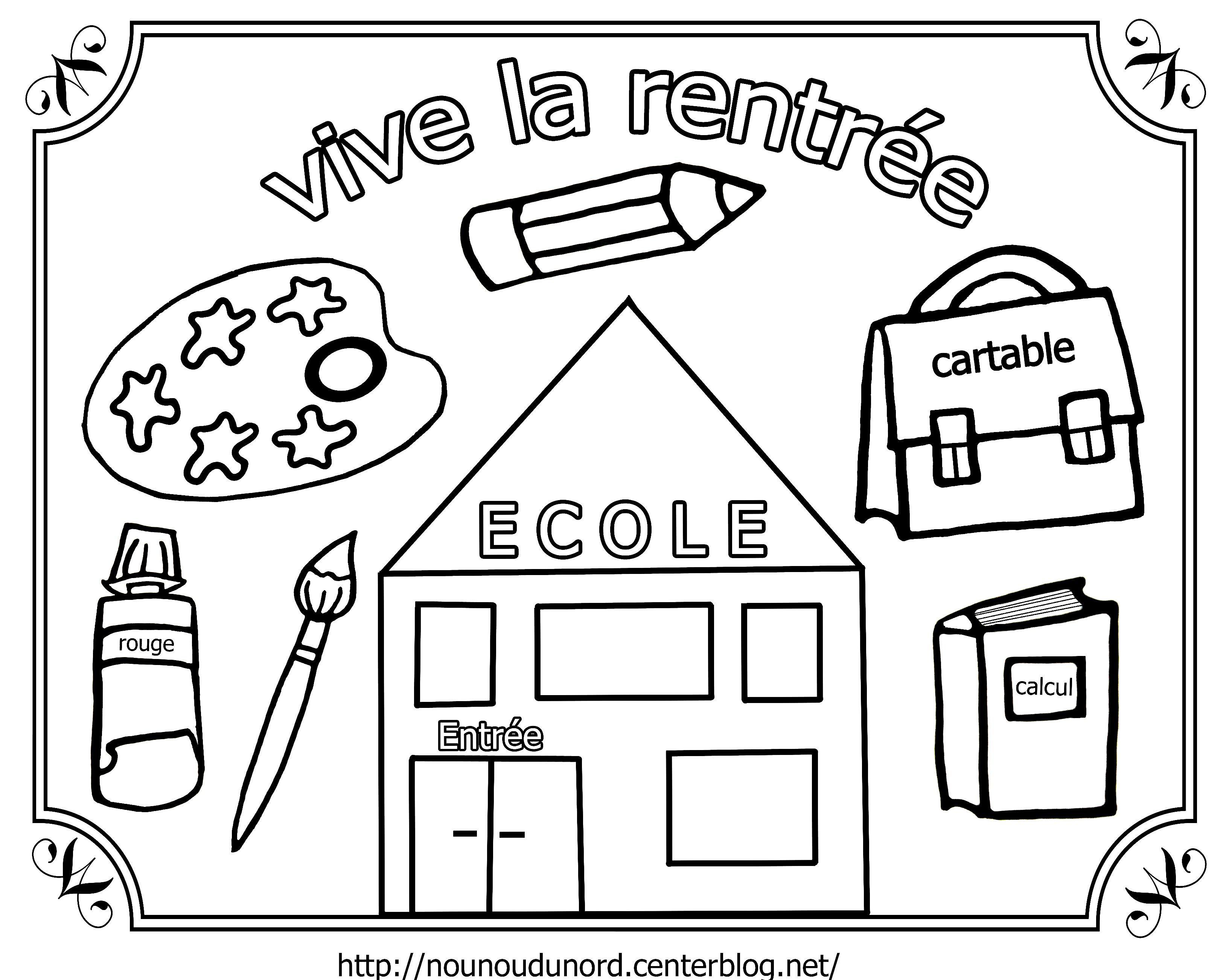 Dessin rentr e maternelle imprimer 22170 id es cole preschool painting school et pre school - Dessin rentree ...