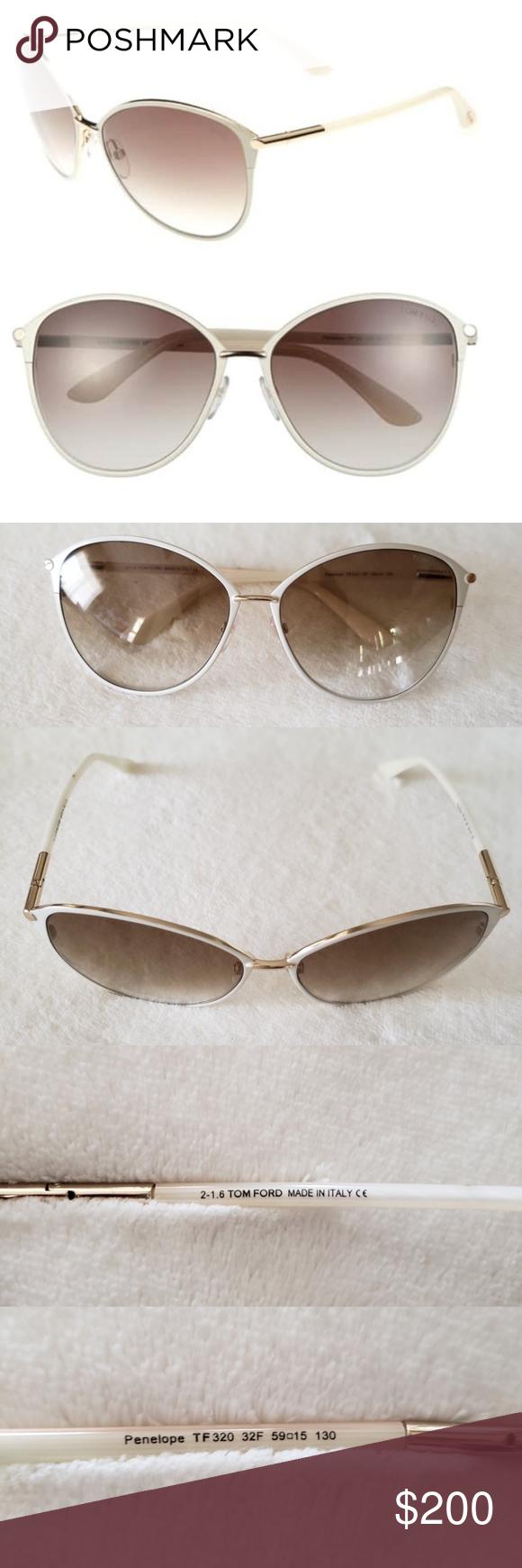 8ac78bc54ce EUC Tom Ford Penelope Cat-Eye Metal Sunglasses  EUC Tom Ford Penelope Cat-