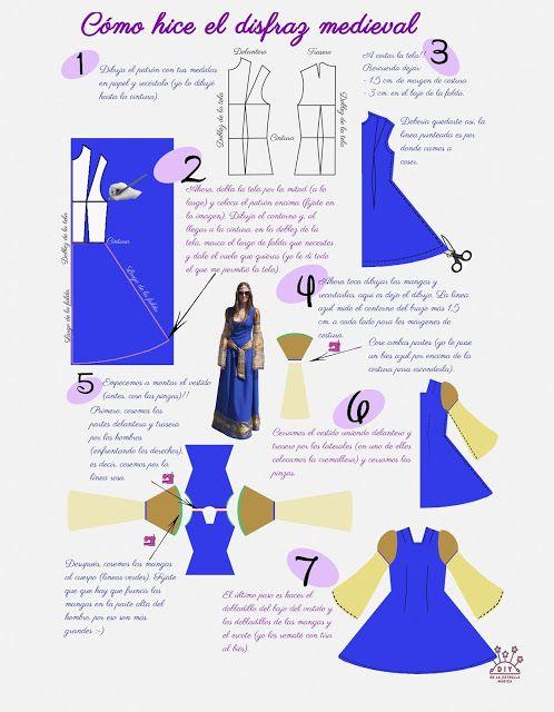 Como hice el disfraz medieval DIY (medieval dress DIY) | Niños ...