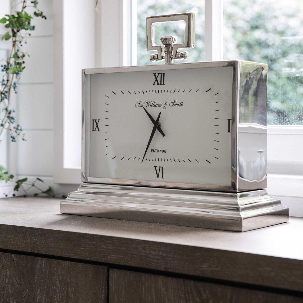 Horloge à Poser En Métal Effet Chromé L47 Maison Du Monde