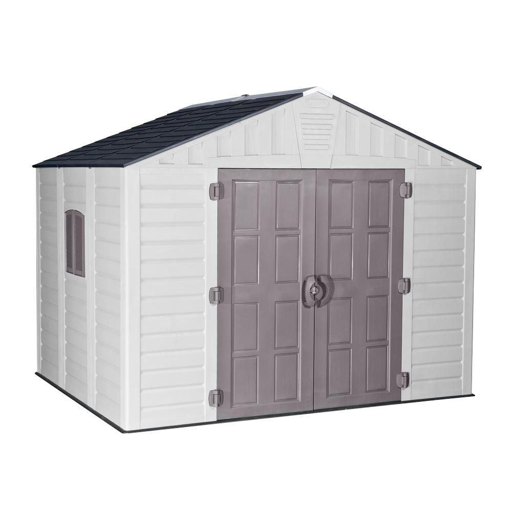 Us Leisure 10 Ft X 8 Ft Keter Stronghold Resin Storage Shed 157479 The Home Depot Storage Shed Resin Storage Shed Storage