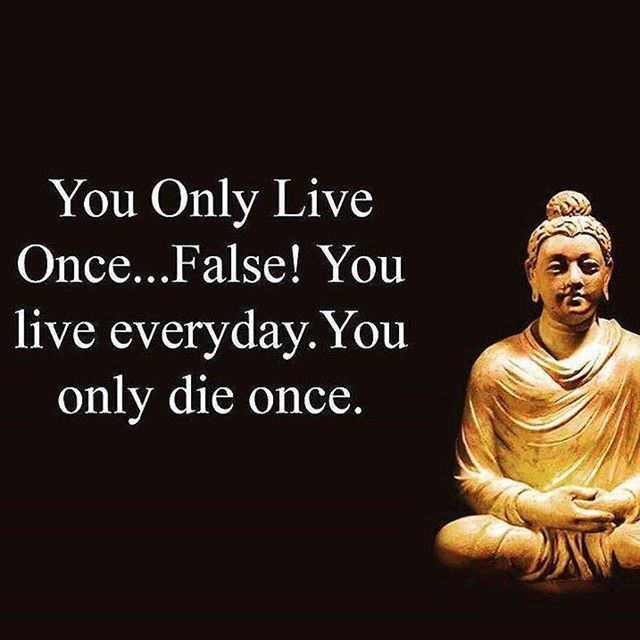 You Only Live Once False Everyday Die