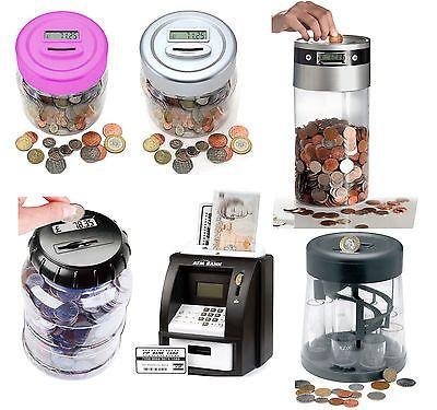 New digital coin counter lcd #display jumbo jar #sorter money box