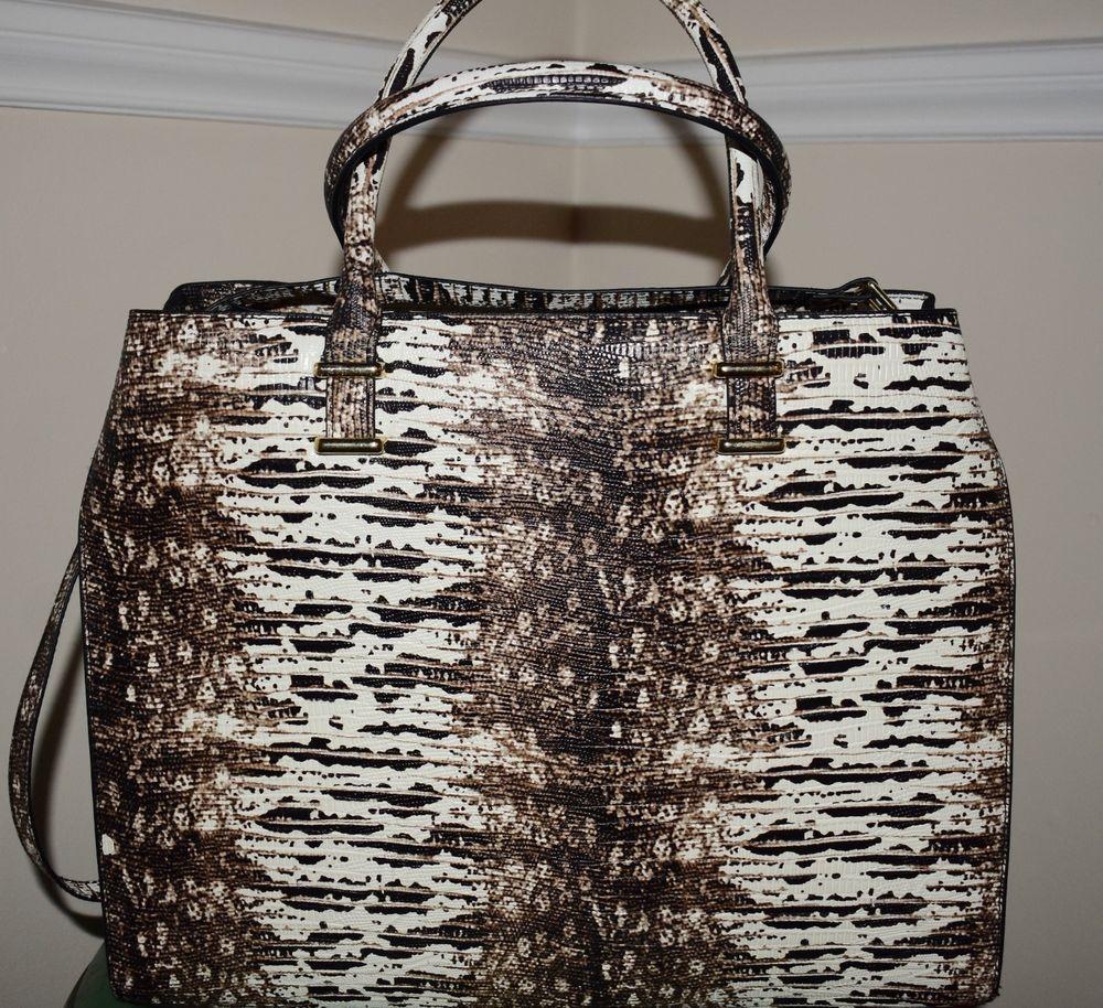 1469da7faf89 H M Snake Print Faux Leather Large Satchel Shoulder Bag in Black   White   HM  SatchelShoulderBag
