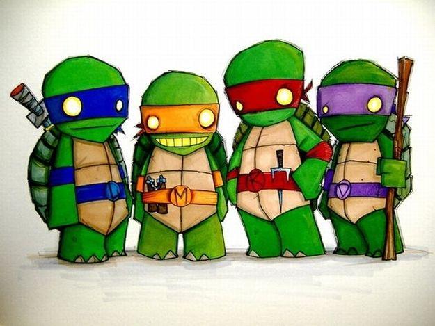 the teenage mutant ninja turtles.