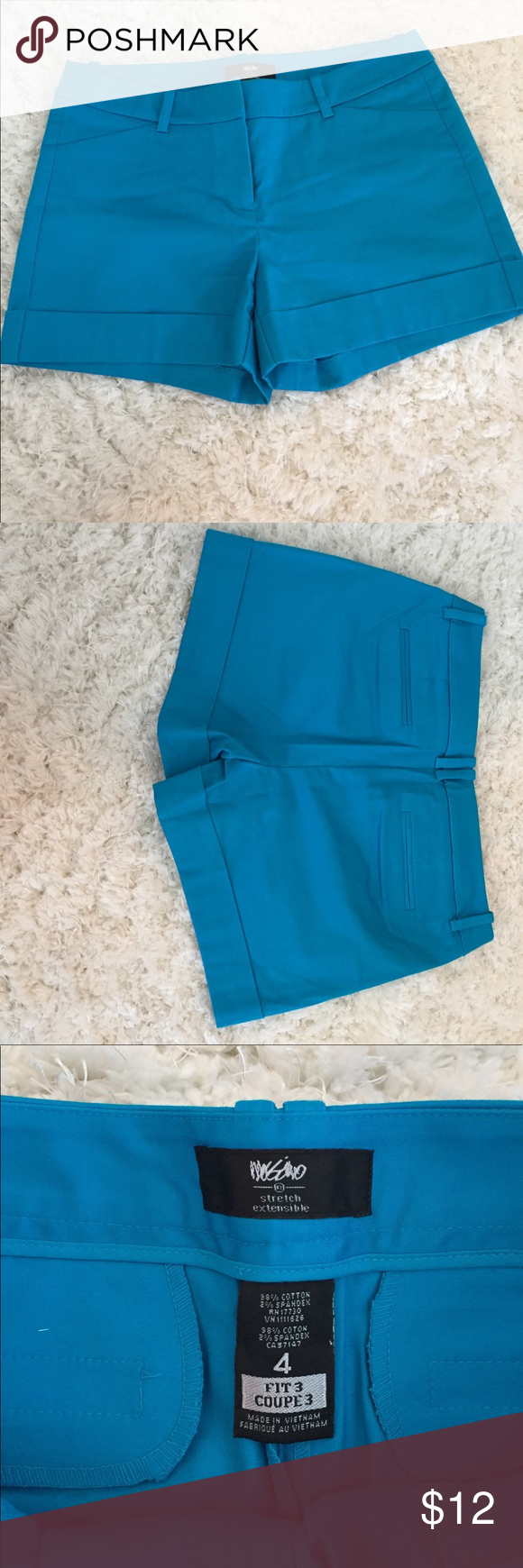 Turquoise summer shorts like Vineyard Vines 4 Super cute bright colored turquoise blue shorts. Very similar to Vineyard Vines but actually from target. New without tags. Size 4. Shorts