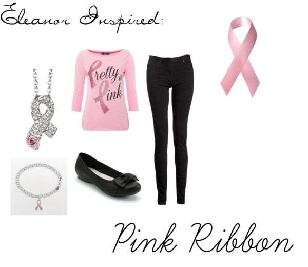 """""""Eleanor Inspired: Supporting Pink Ribbon"""" by eleanorcloset on Polyvore"""