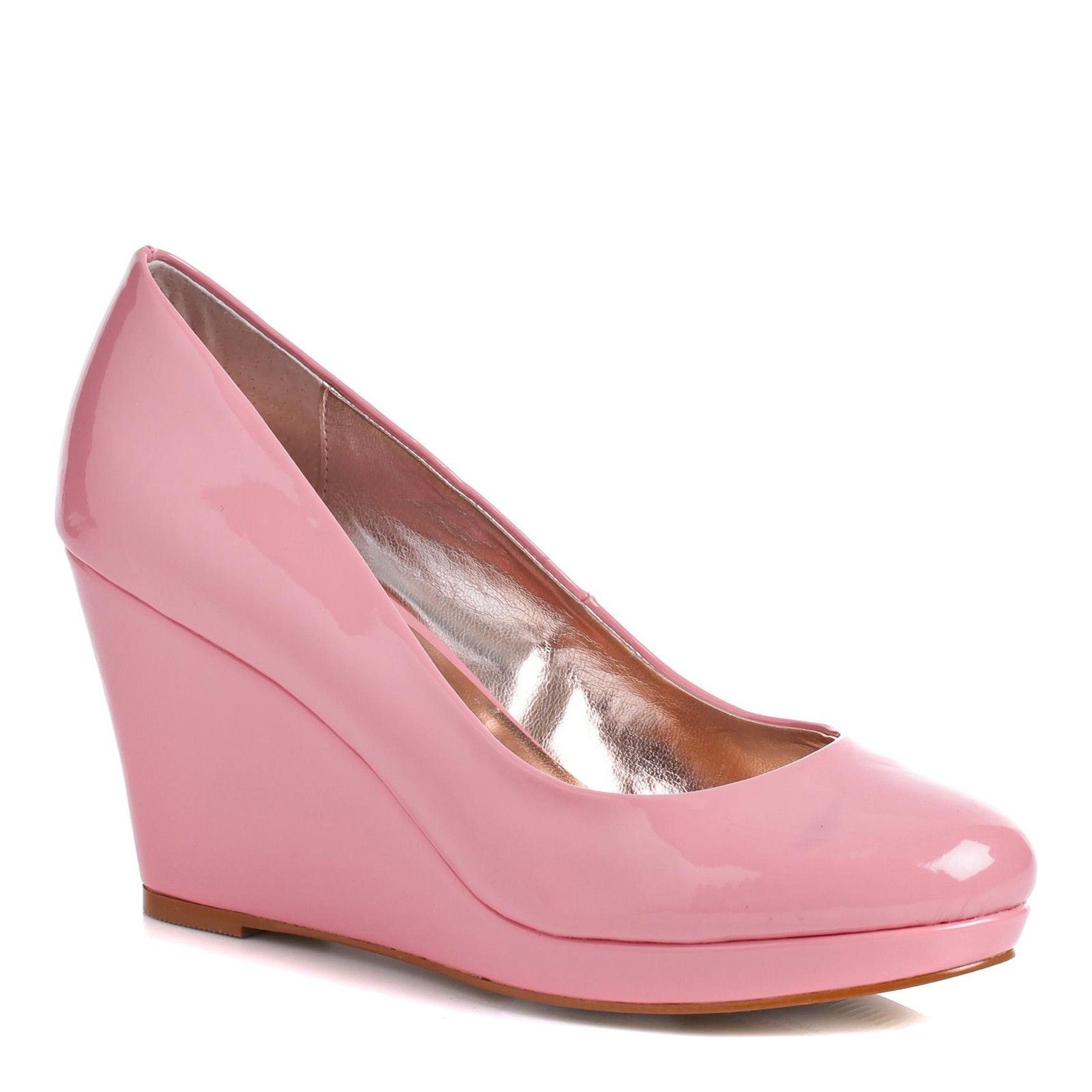 8f98ee51600 Pink Oker Patent Wedges Shoes 9cm Heel - Women - Outlet