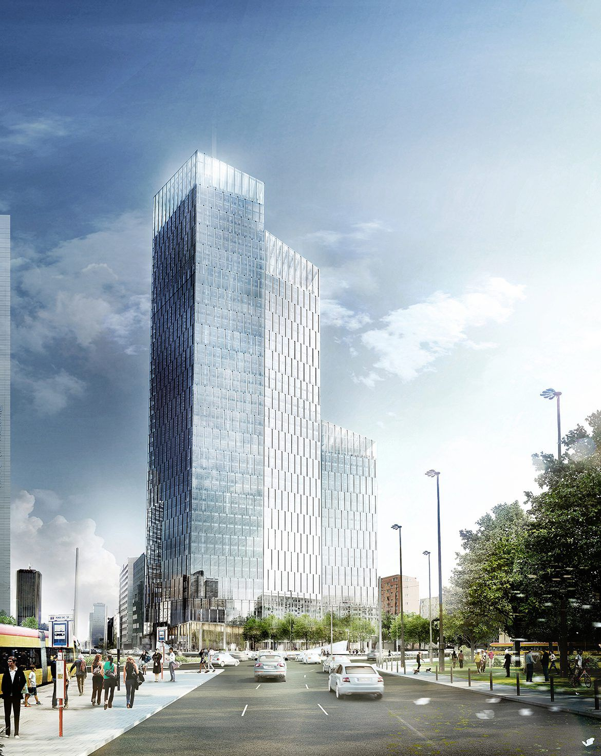 Shl Office Tower Warsaw In 2020 Office Tower Amazing Architecture Warsaw