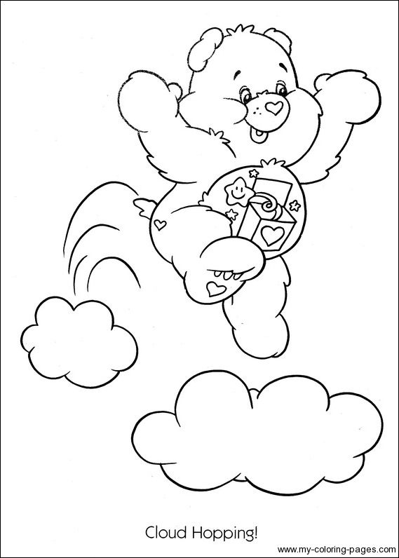 Care Bears Ourson Surprise Bear Coloring Pages Cute Coloring