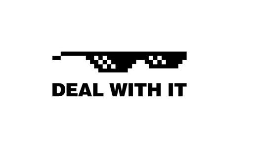 Meme Deal With It Animated Gif Glasses Tech Company Logos Company Logo Animation