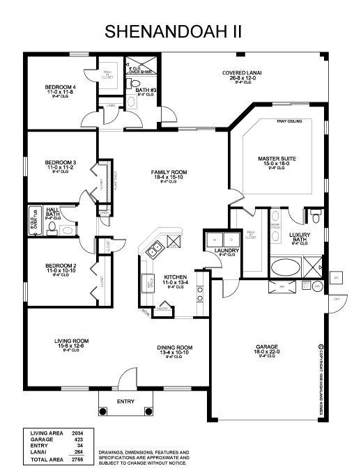 The 4Bedroom Shenandoah Ii Plan Offers Formal Dining And Living Stunning Dining Room Floor Plans Inspiration
