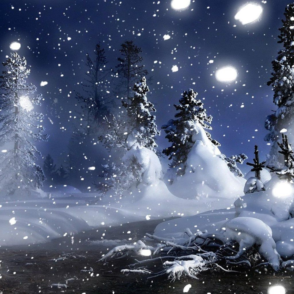 images of snowy night snowy night hd ipad wallpaper 100679