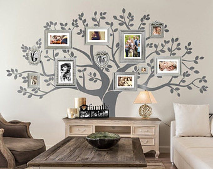 Wall Decal - Family Tree Wall Decal - Tree decal - Large approx 90  & Wall Decal - Family Tree Wall Decal - Tree decal - Large: approx 90 ...