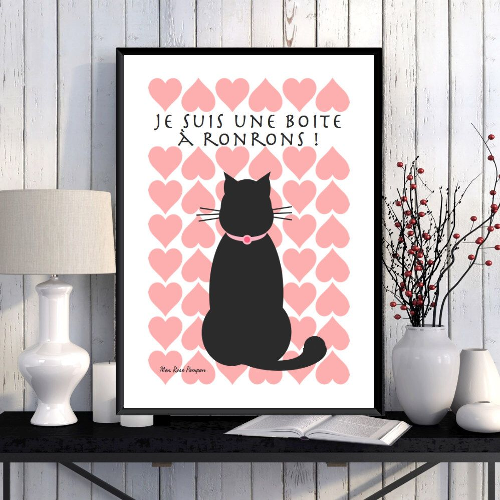Illustration Pour Les Amoureux Des Chats Affiche à Imprimer