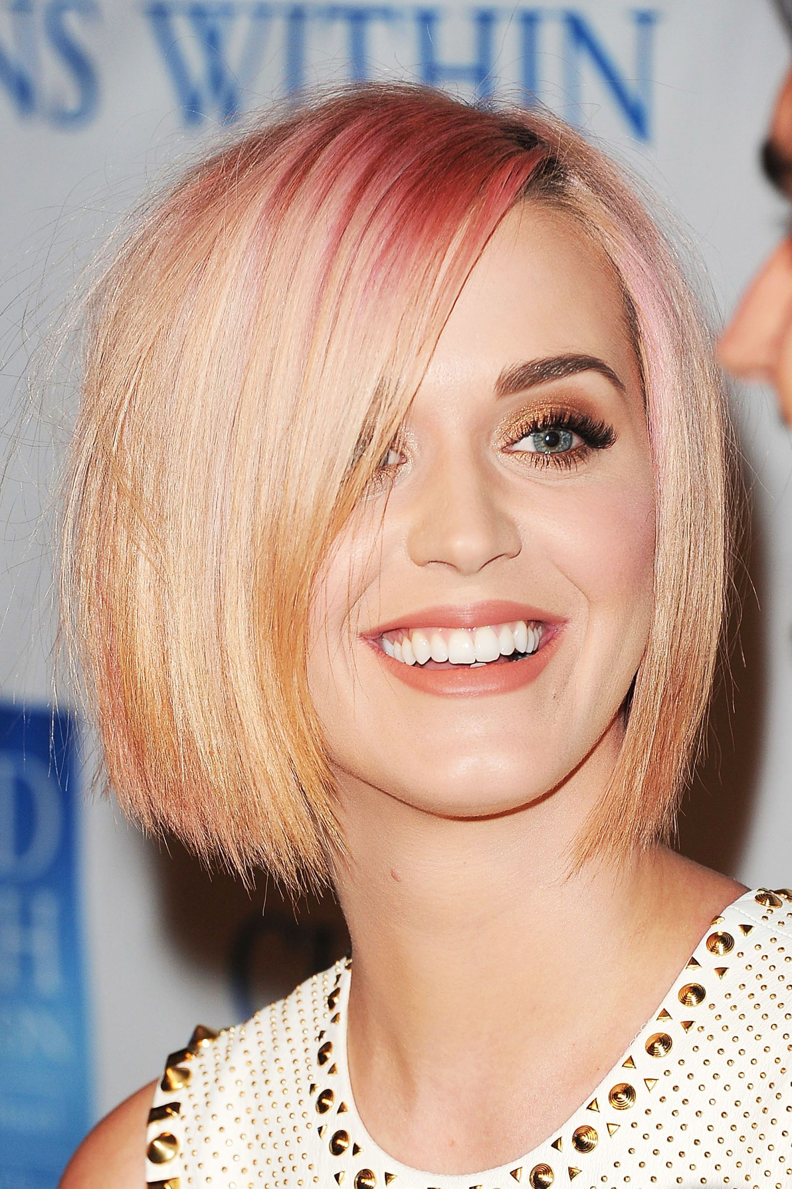 Image result for Katy Perry rose gold hair
