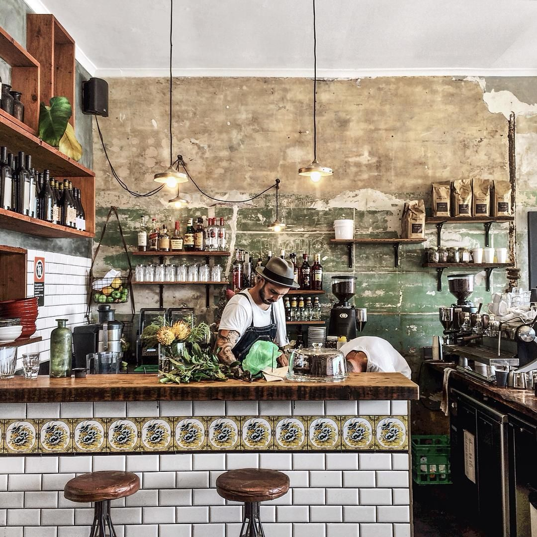 """Rustic cafe in Bondi porchandparlour"