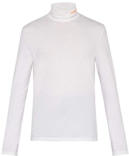 look for good out x authentic quality Roll-neck cotton-blend top   CALVIN KLEIN 205W39NYC ...