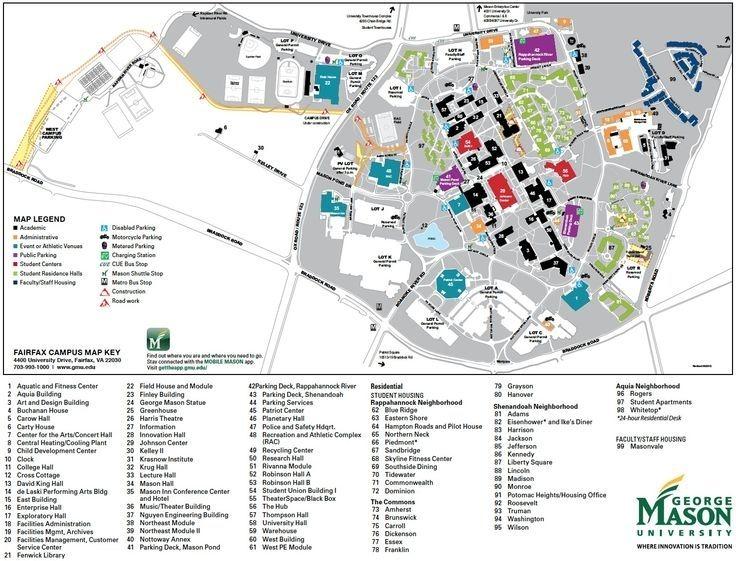 George Mason University Campus Map Gallery George Mason University