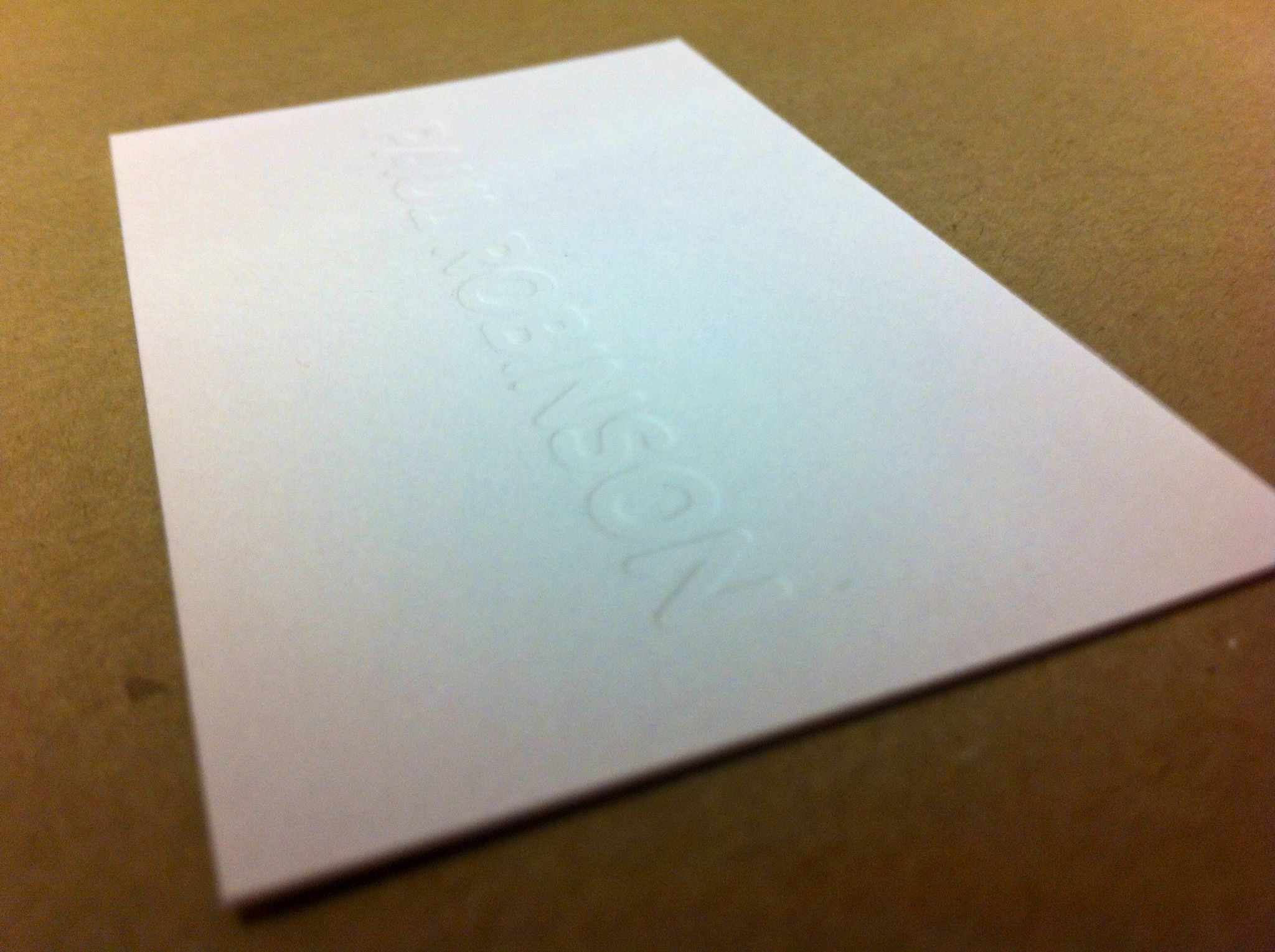 Embossed business card Business cards Pinterest