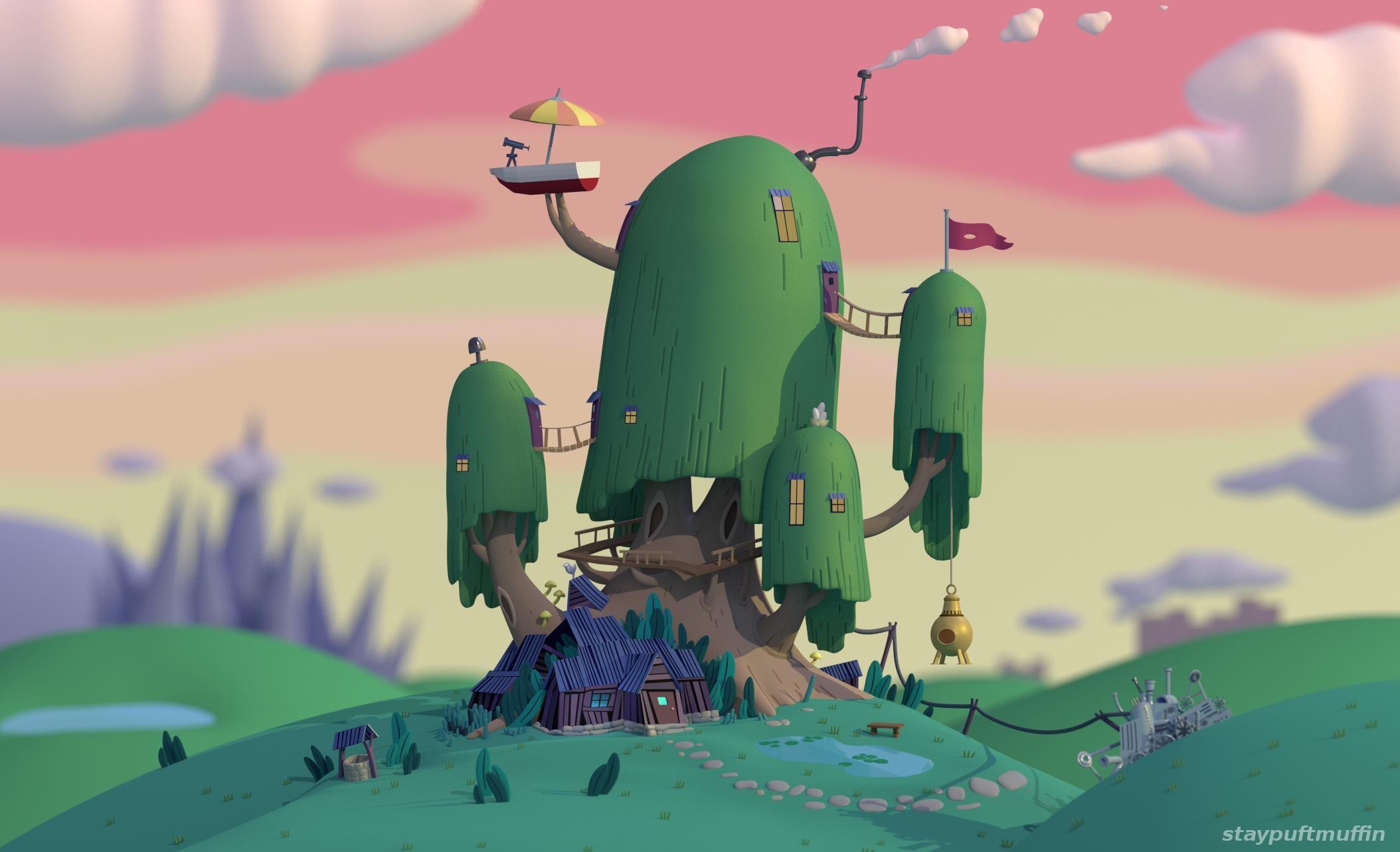 Imgur Post Adventure Time Wallpaper Tree House Wallpaper Adventure Time Tree House
