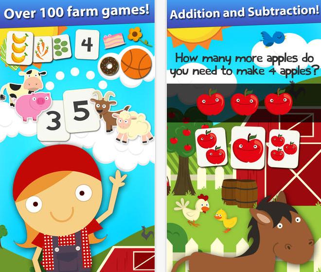 FREE app (reg 2.99) Skills on the Farm Counting, Shapes