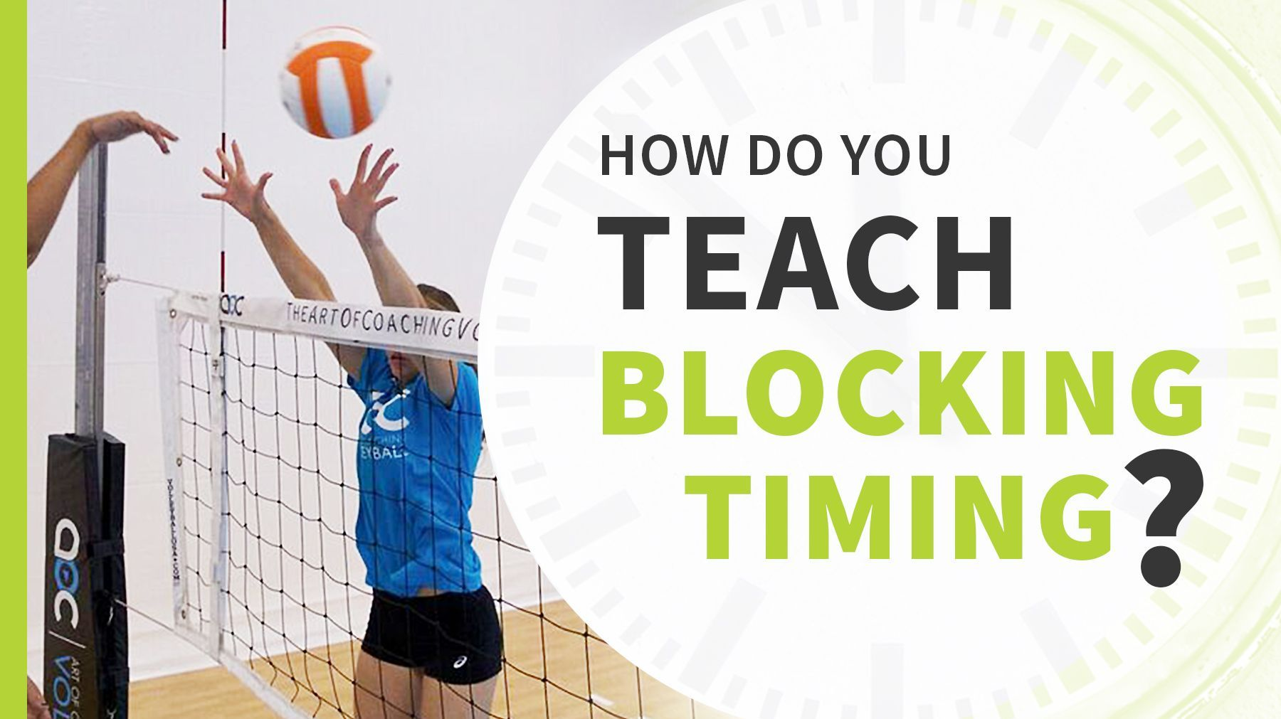Increasing Defensive Range Drill To Teach Blocking Timing