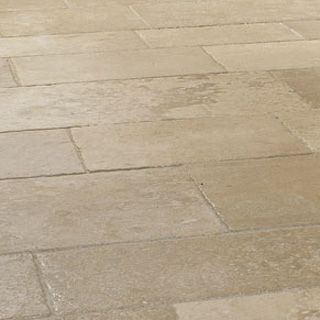 aged french stone flooring distressed