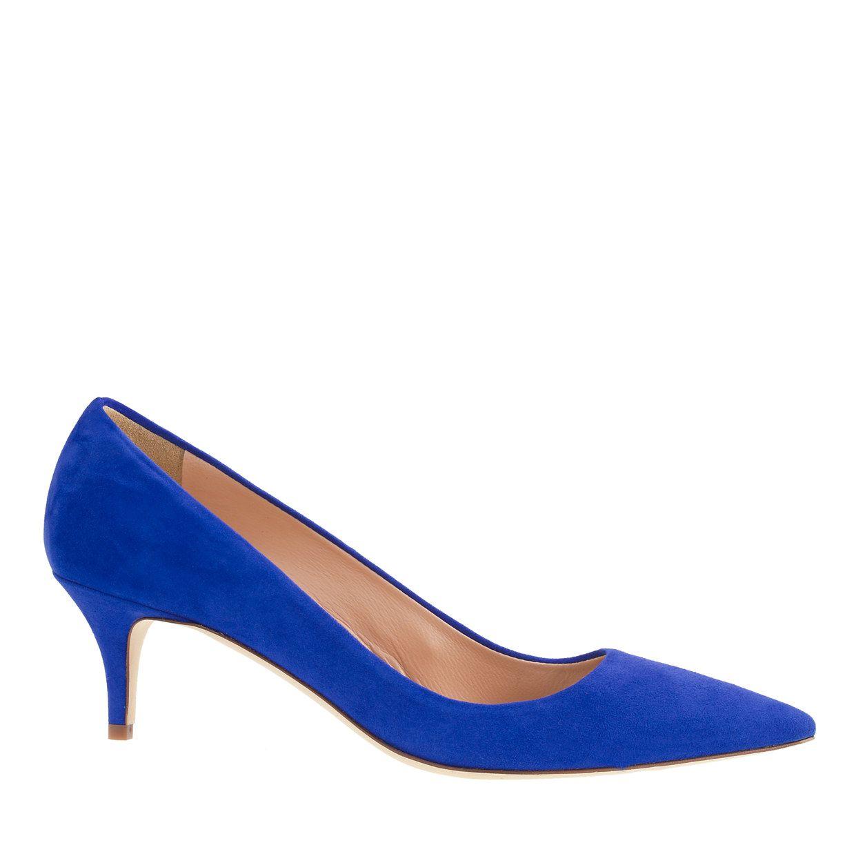 1e468666d2a J.Crew - Dulci scalloped suede kitten heels