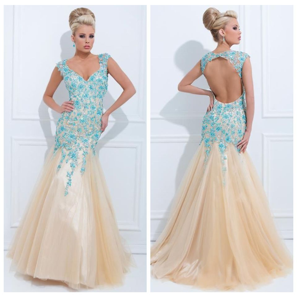 New mermaid applique formal party ball evening pageant prom dresses