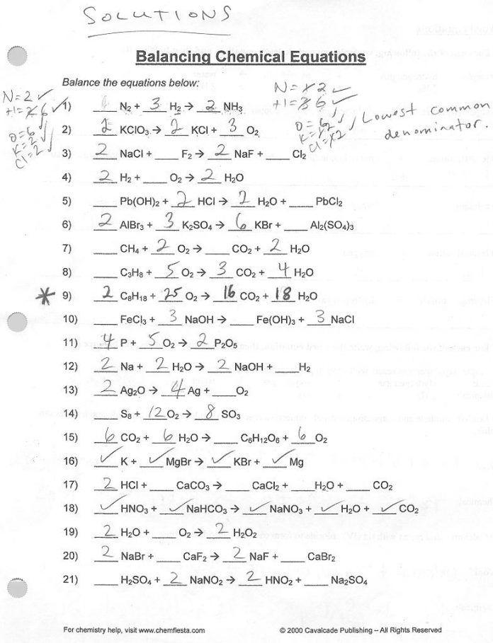 37 Simple Balancing Equations Worksheet Ideas ...