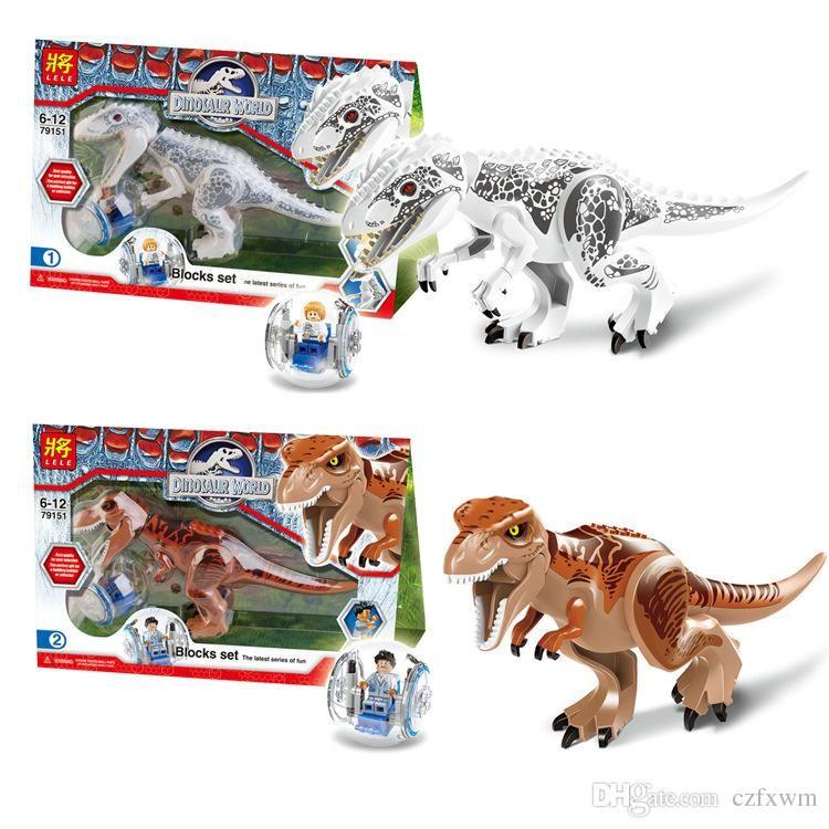 2016 Lele Jurassic Park Jurassic World Tyrannosaurus Rex Bricks Building Block Minifigue Toys Kid To Jurassic Park Lego Sets Jurassic World Lego Jurassic World