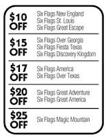Hot Coupon Save 10 At Six Flags On A General Admission Ticket Exp 7 31 Admission Ticket Six Flags 10 Things