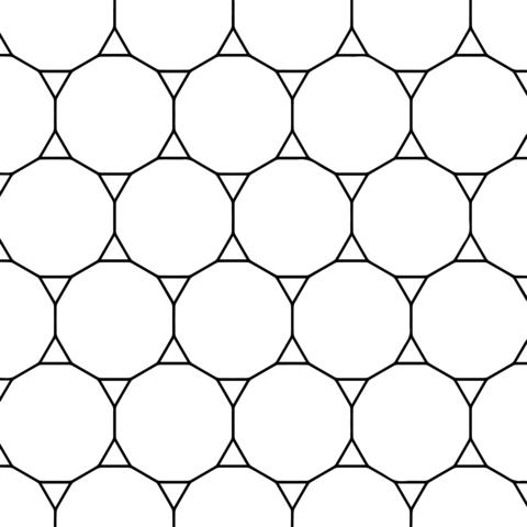 Teselado con Tridecágonos y Triángulos Dibujo para colorear ...