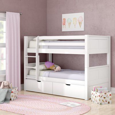 Viv Rae Isabelle Twin Over Twin Bunk Bed With Storage Bunk Beds With Storage Twin Bunk Beds Bunk Bed With Trundle