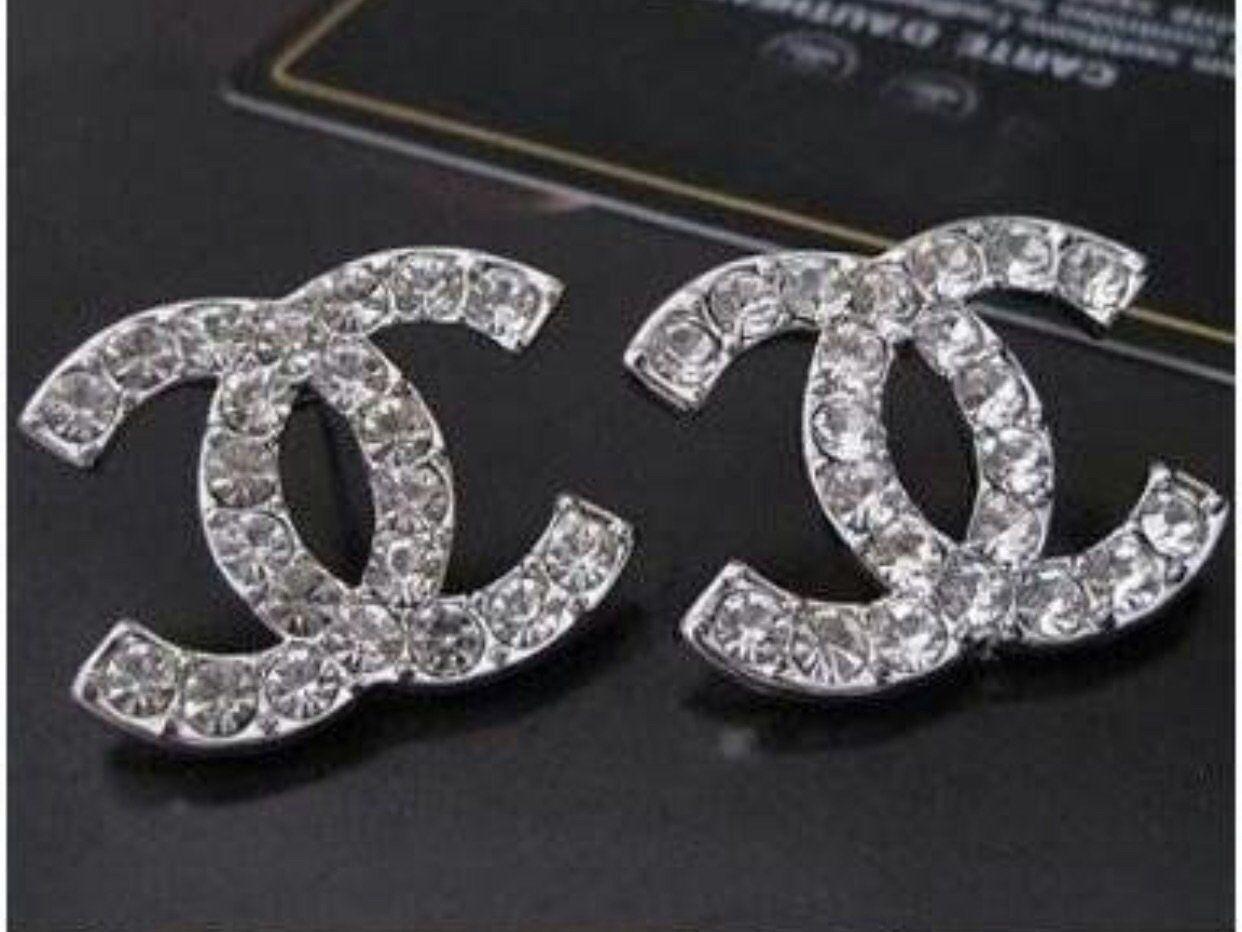 1st Cl Rhinestone Earrings Chanel Jewelry