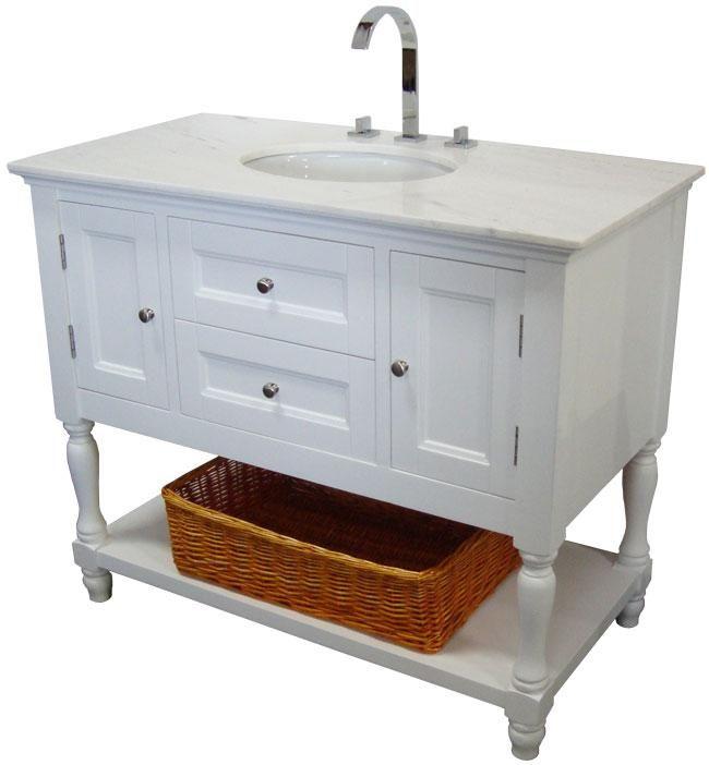 Westwood (single) 42 Inch USA Made Plantation Style Bathroom Vanity W  Choice Of